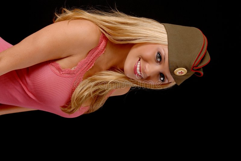 älskvärd blond flicka arkivfoto