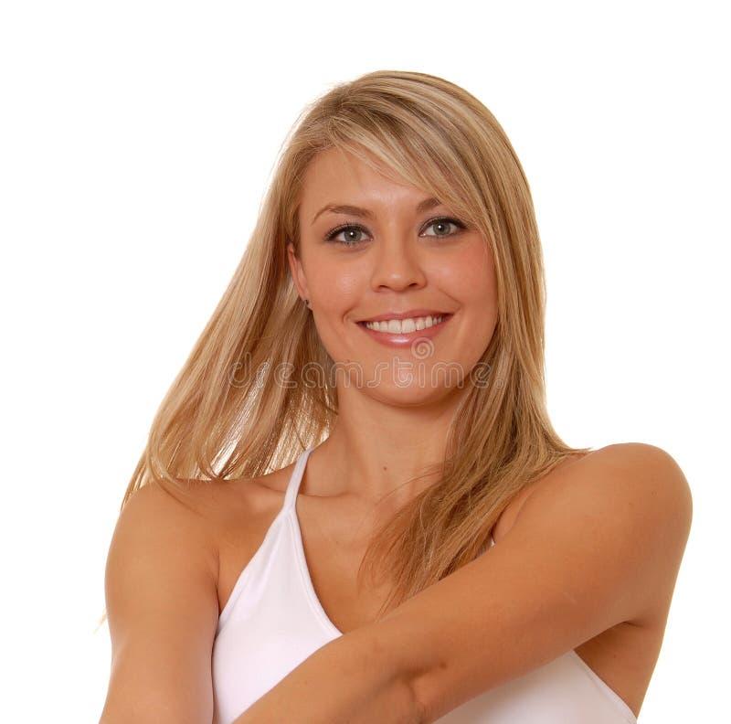 älskvärd blond flicka royaltyfri fotografi