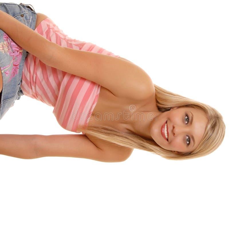 älskvärd blond flicka arkivfoton