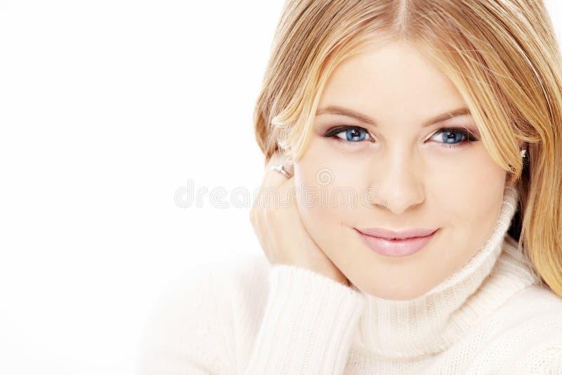 älskvärd blondin royaltyfria foton