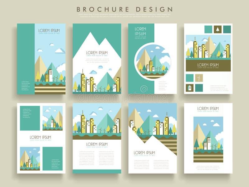 Älskvärd broschyrmall vektor illustrationer