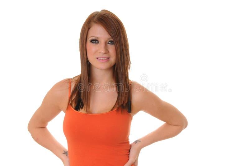 älskvärd brunettflicka royaltyfri foto