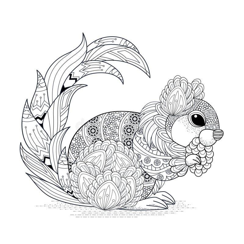Älskvärd ekorredesign stock illustrationer