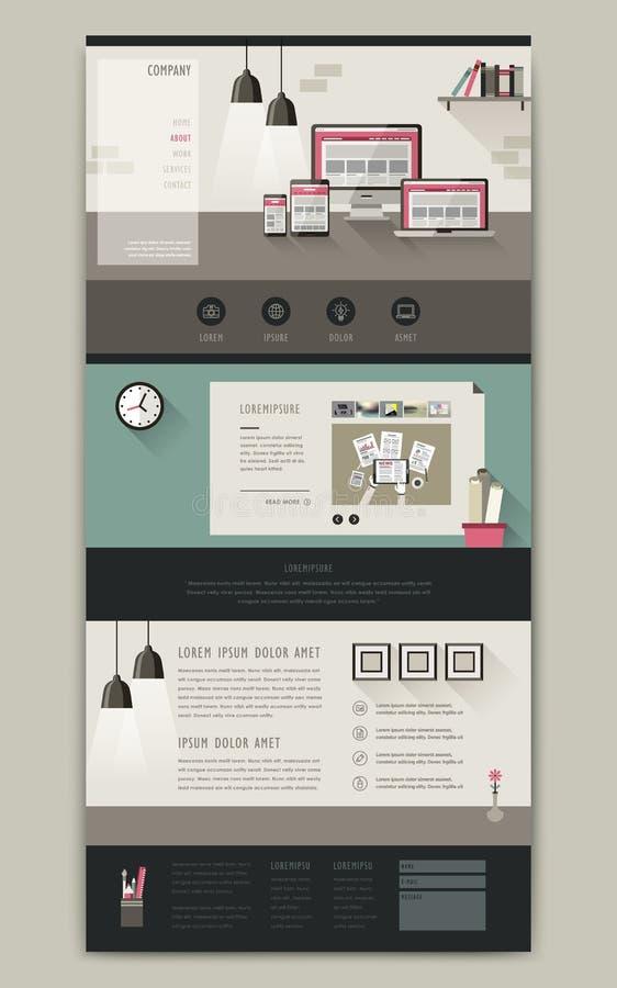 Älskvärd en design för sidawebsitemall royaltyfri illustrationer