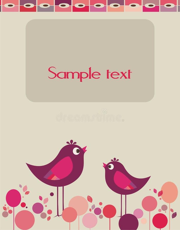 älskvärd gullig design för fåglar vektor illustrationer