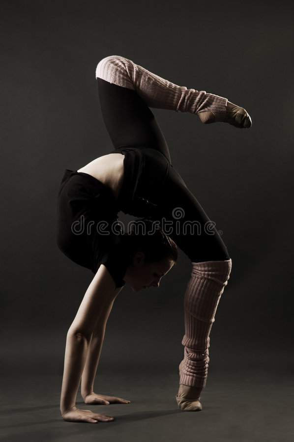 älskvärd gymnast fotografering för bildbyråer