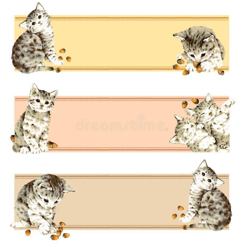 älskvärd katt stock illustrationer
