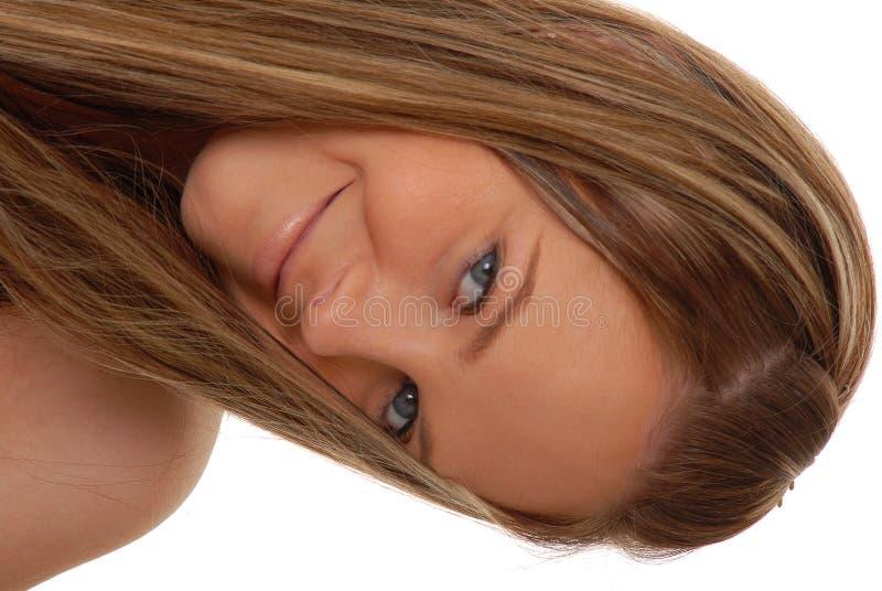 älskvärd kvinna för brunett royaltyfria foton