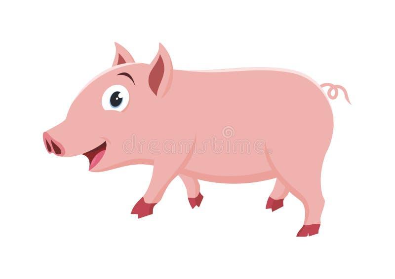 Älskvärd liten svinillustration royaltyfri illustrationer
