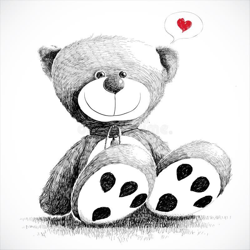 älskvärd nalle för björn stock illustrationer