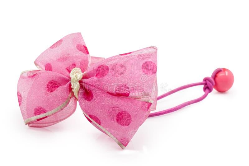 Älskvärd rosa hårnål royaltyfria foton