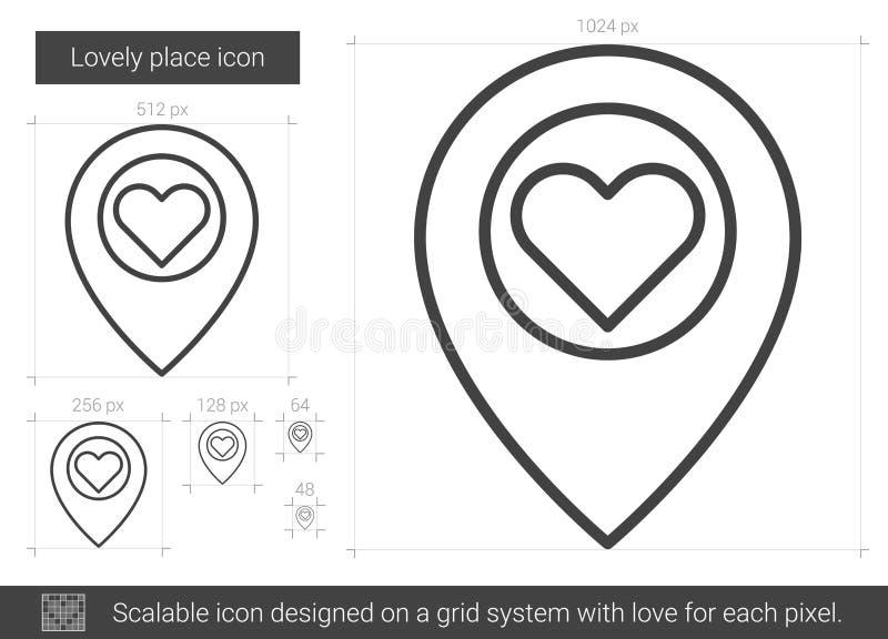 Älskvärd ställelinje symbol stock illustrationer