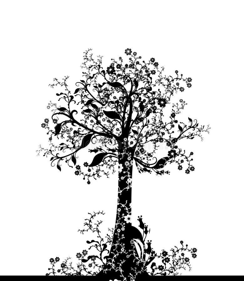 älskvärd tree royaltyfri illustrationer