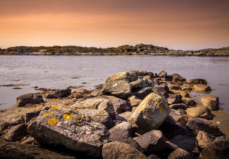 Älskvärda öar med den härliga naturen - Göteborg, Sverige royaltyfria foton