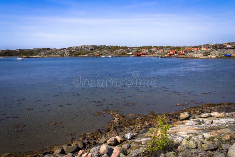 Älskvärda öar med den härliga naturen - Göteborg, Sverige royaltyfri bild