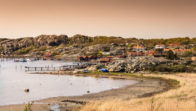 Älskvärda öar med den härliga naturen - Göteborg, Sverige royaltyfri foto