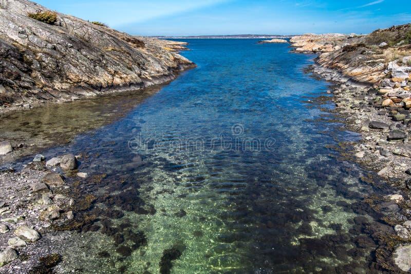 Älskvärda öar med den härliga naturen - Göteborg, Sverige fotografering för bildbyråer