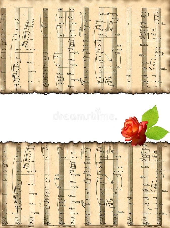 älskvärda musikaliska anmärkningar för bakgrundsbild royaltyfri illustrationer