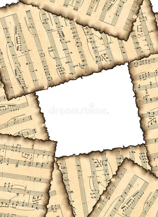 älskvärda musikaliska anmärkningar för bakgrundsbild vektor illustrationer