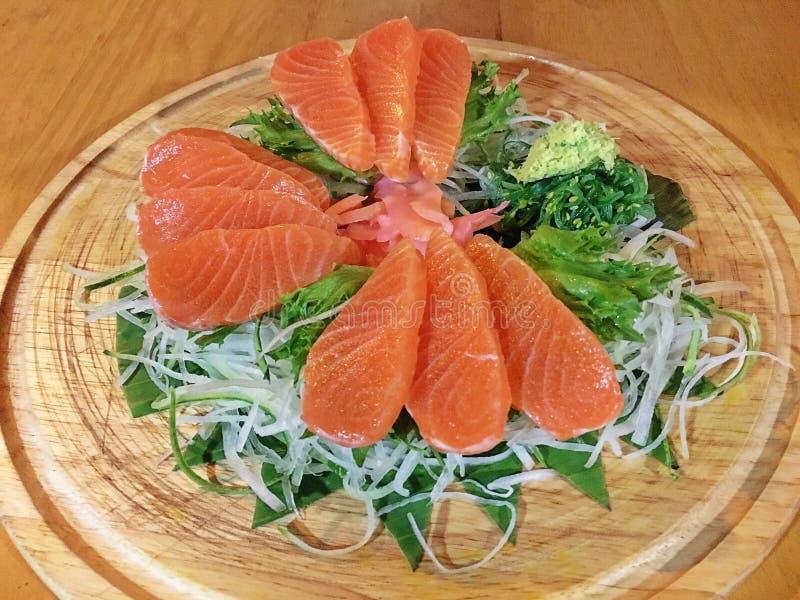 Älskvärda Salmon Sashimi royaltyfri fotografi