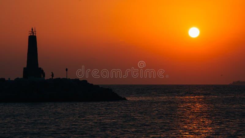 Älskvärda solnedgångar i Spanien royaltyfria bilder