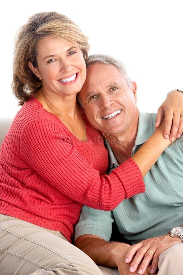Ältere Älterpaare lizenzfreies stockbild