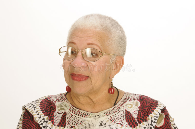 Ältere Afroamerikaner-Frau stockfotografie