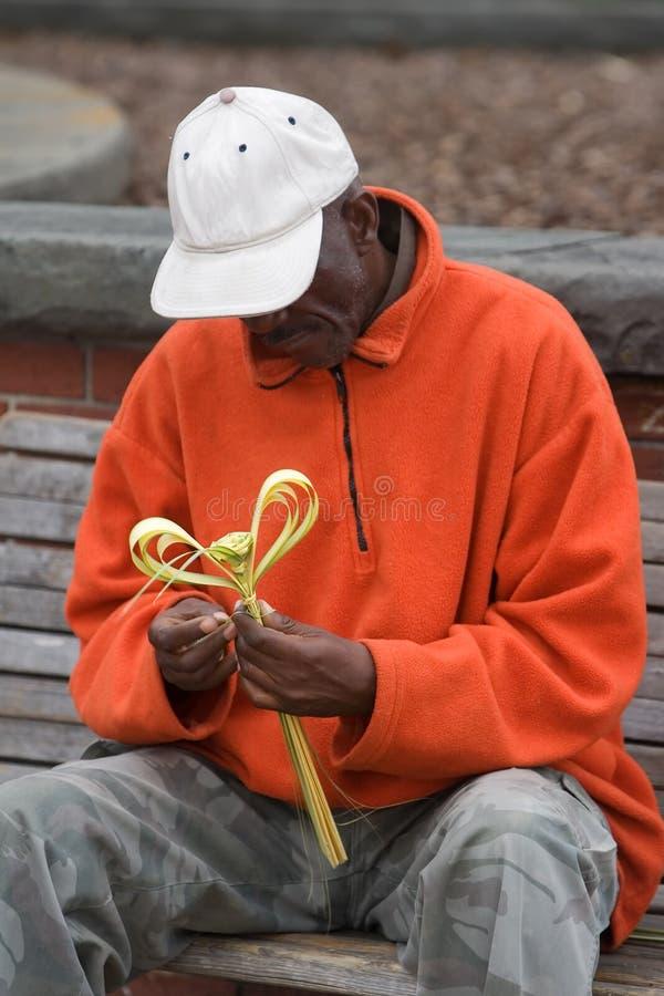 Ältere Afroamerikaner-Mann-Funktion stockbilder