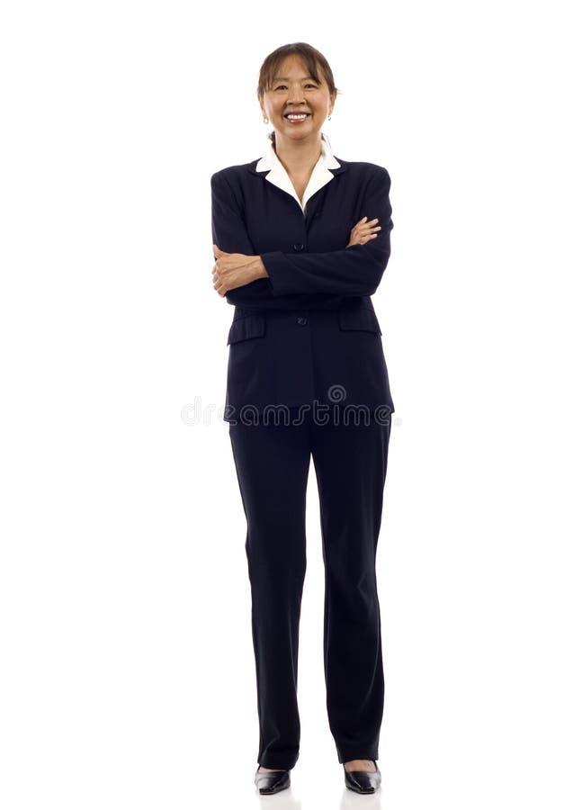 Ältere asiatische Geschäftsfrau lizenzfreie stockfotos