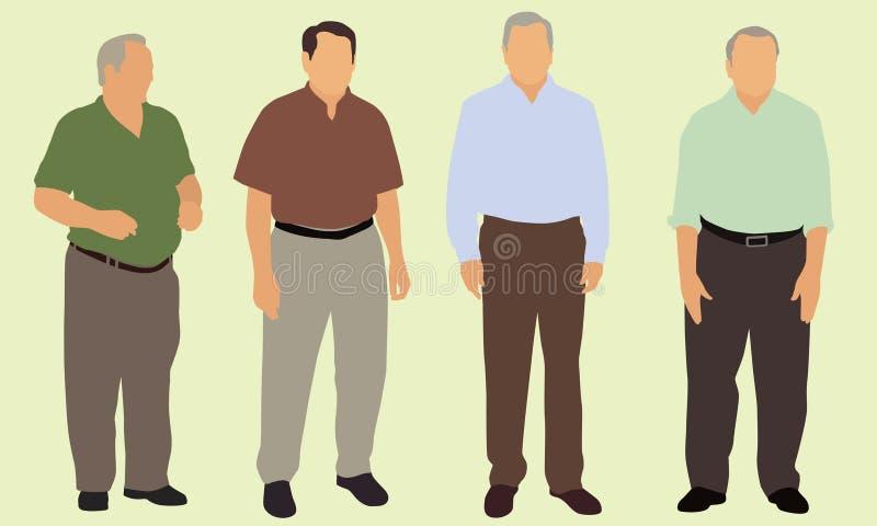 Ältere Bürger lizenzfreie abbildung