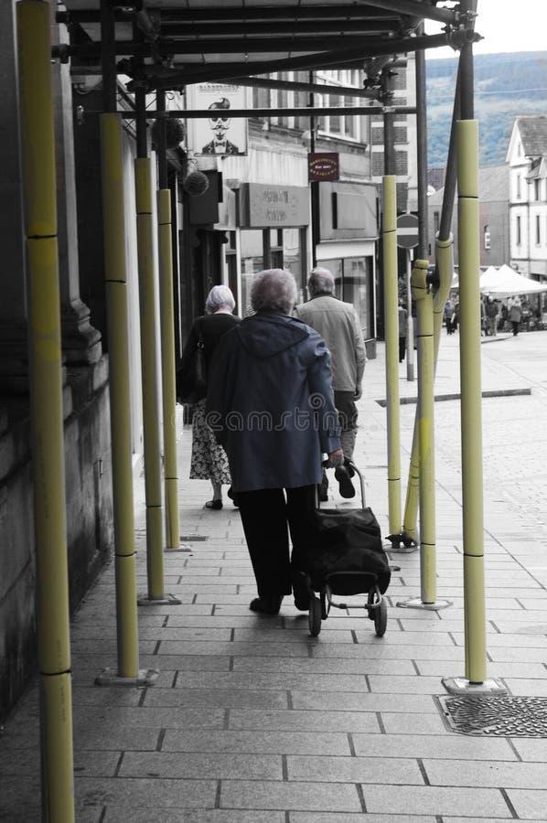 Ältere Bürger von Merthyr Tydfil lizenzfreies stockbild