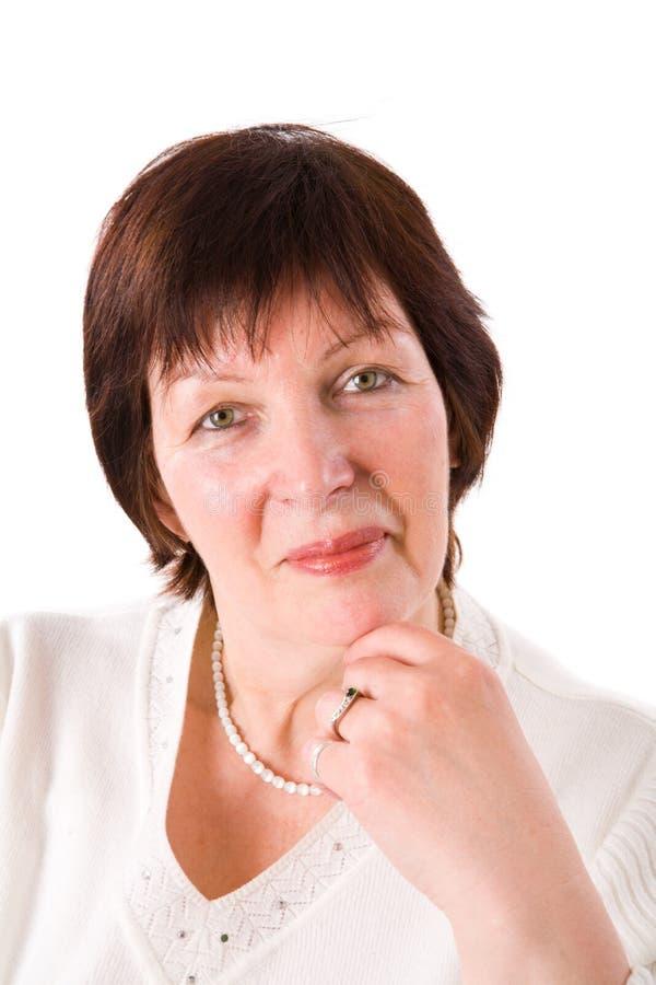Ältere Frau stockbild