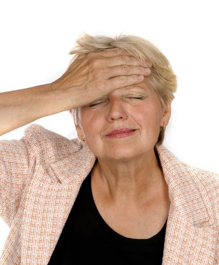 Ältere Frau mit etwas Mühe lizenzfreies stockfoto