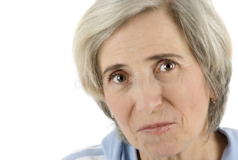 Ältere Frauenaugen lizenzfreie stockbilder