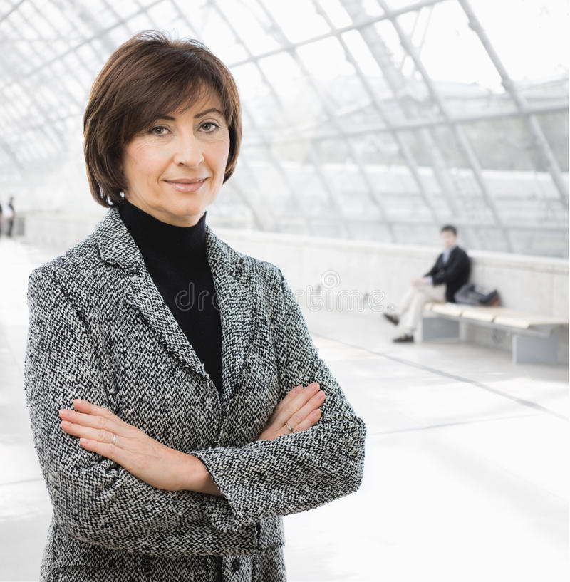 Ältere Geschäftsfrau stockfoto