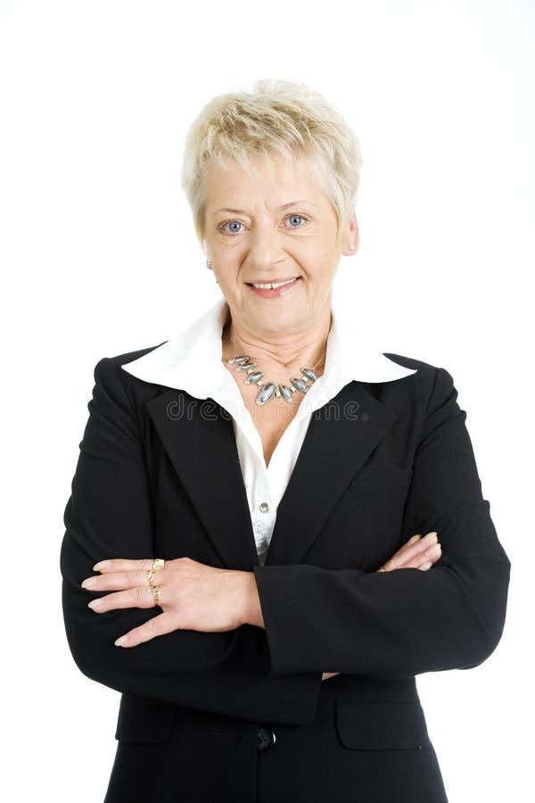 Ältere Geschäftsfrau lizenzfreie stockfotos