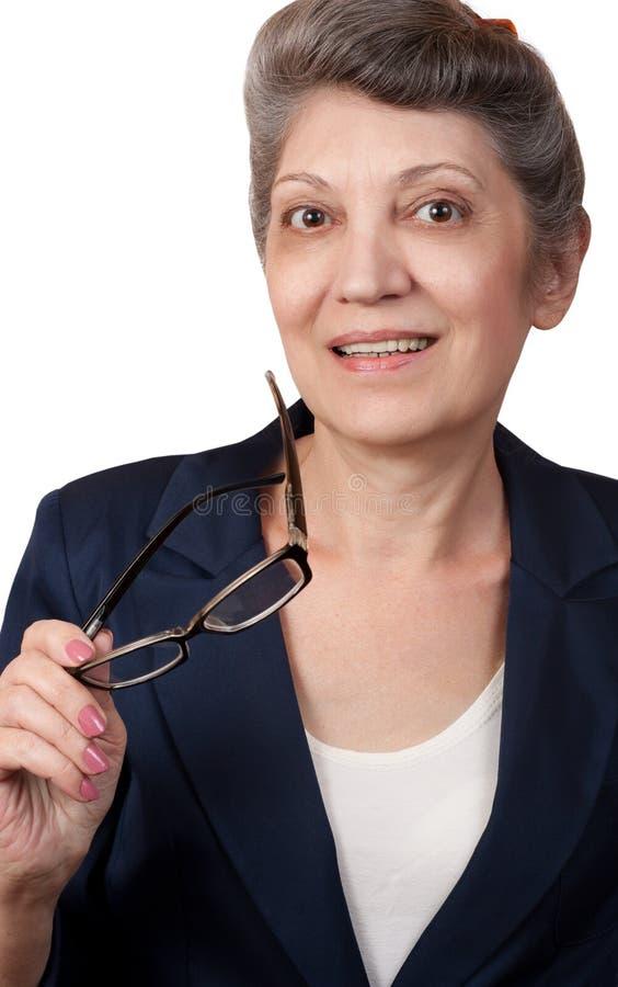 Ältere Geschäftsfrau lizenzfreie stockbilder