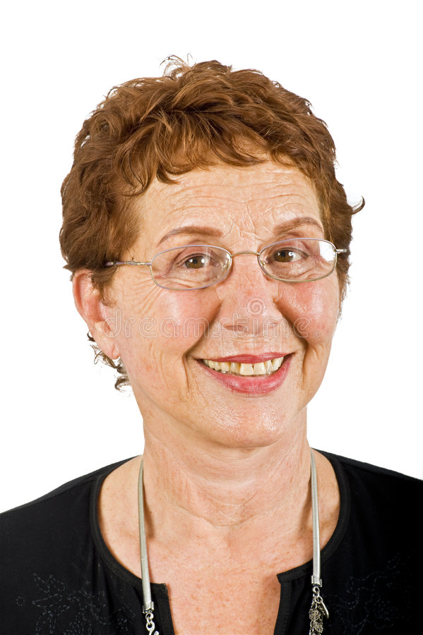 Ältere Geschäftsfrau lizenzfreie stockfotografie