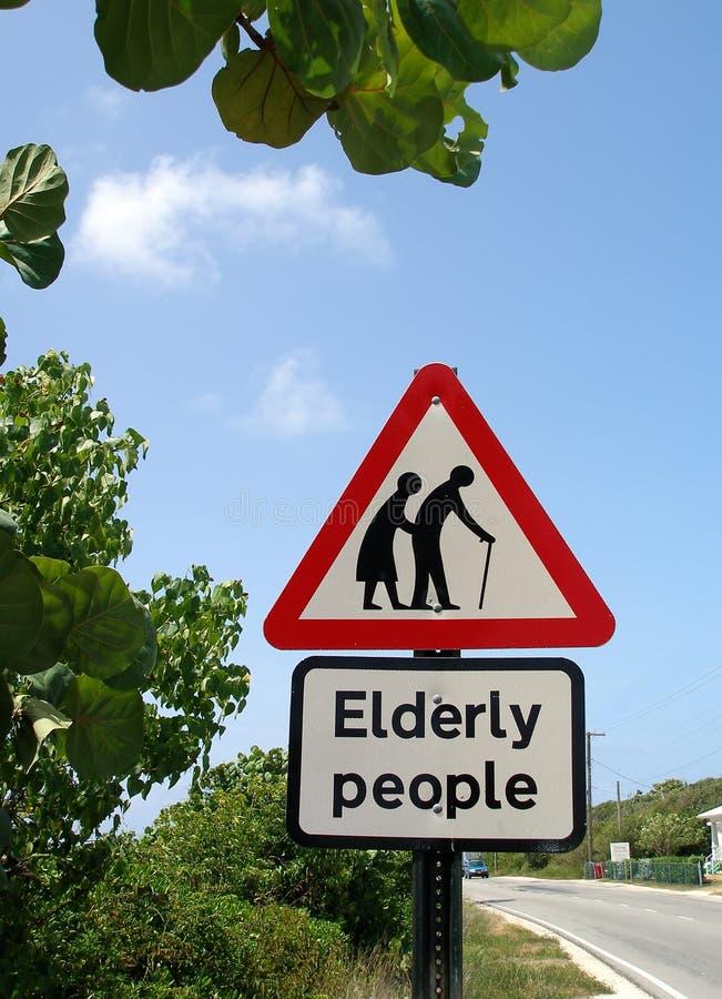 Ältere Menschen Zeichen stockfotos
