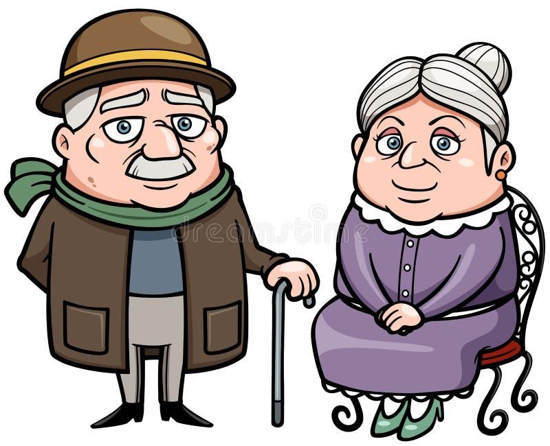 Ältere Paare lizenzfreie abbildung