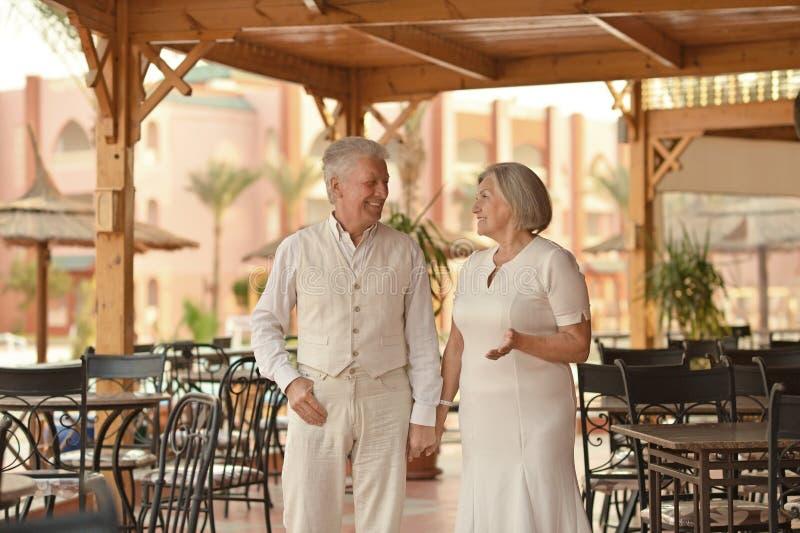 Ältere Paare auf Ferien lizenzfreies stockbild