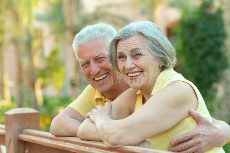 Ältere Paare am Erholungsort lizenzfreie stockfotografie