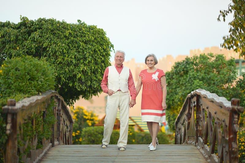 Ältere Paare am Erholungsort stockfoto