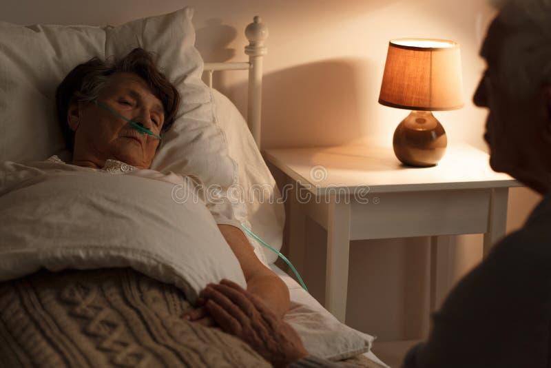 Ältere Paare schätzende letzte Momente stockfotografie