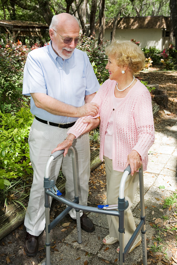 Ältere Paare zusammen lizenzfreies stockfoto