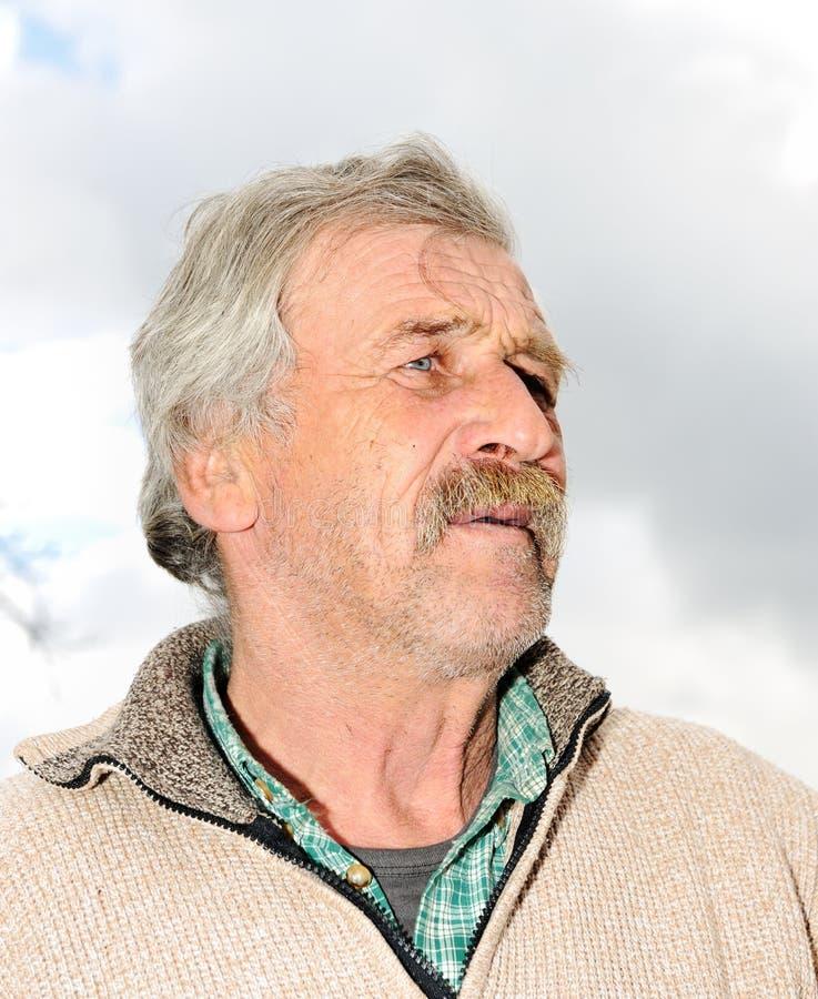 Ältere Person, Portrait in natürlichem stockbild