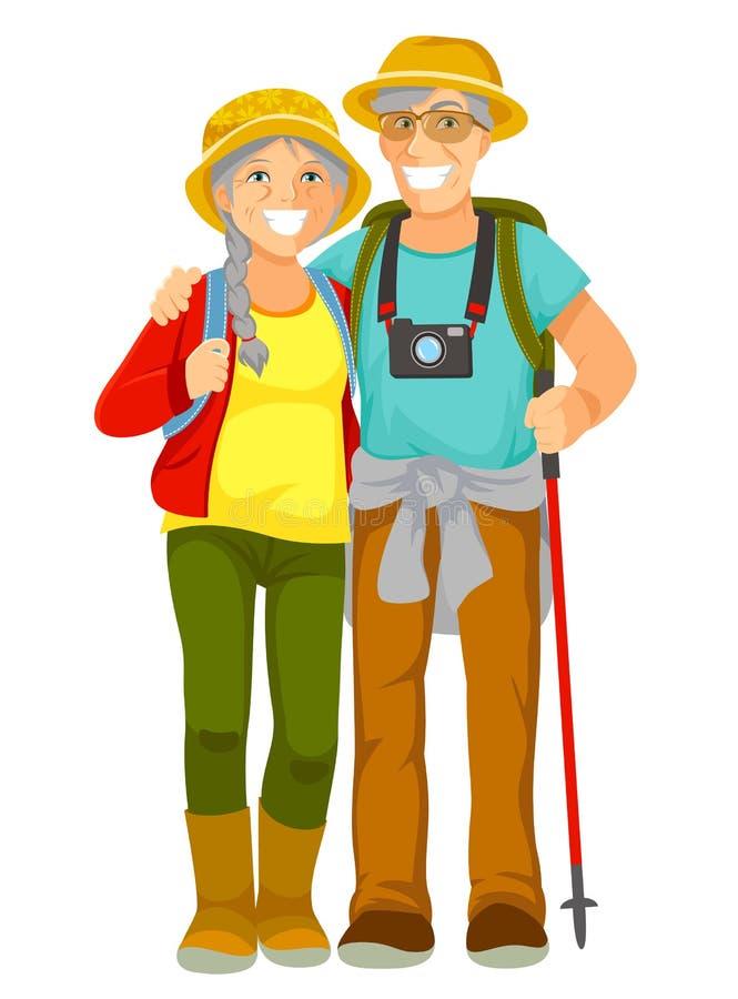 Ältere Reisende lizenzfreie abbildung