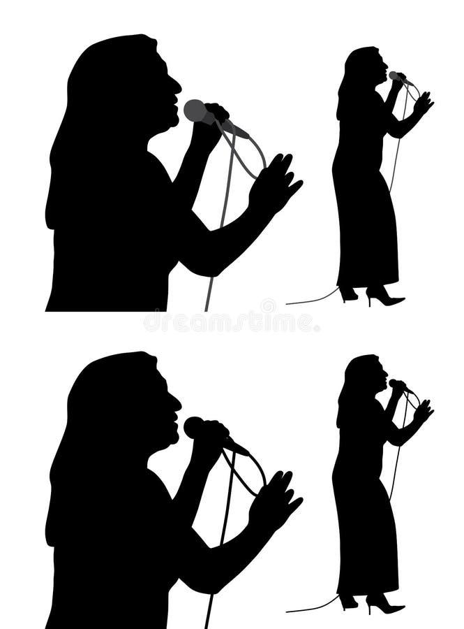 Ältere Sängerin vektor abbildung