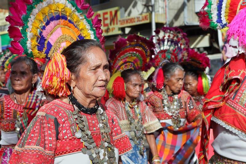 Ältere Stammes- Frauen Philippinen stockbild