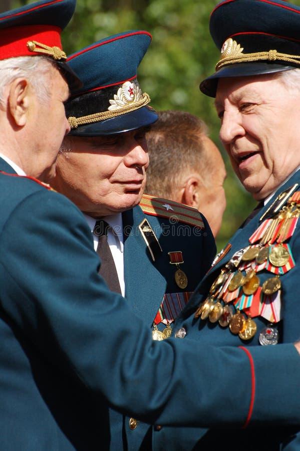 Ältere Veterane. lizenzfreie stockbilder
